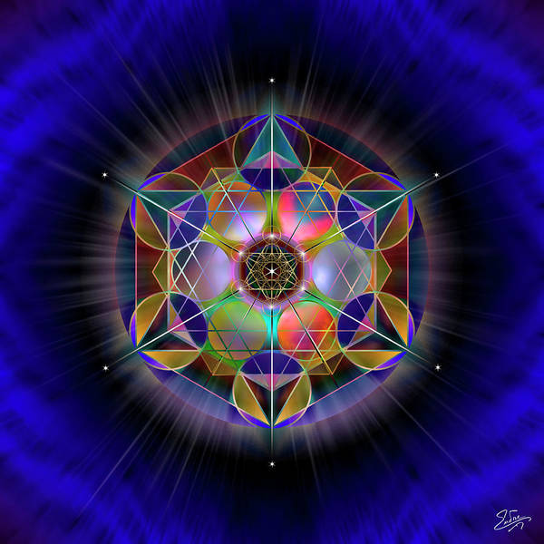 Digital Art - Sacred Geometry 690 by Endre Balogh