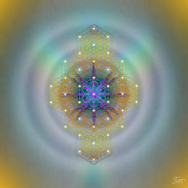 Digital Art - Sacred Geometry 694 by Endre Balogh