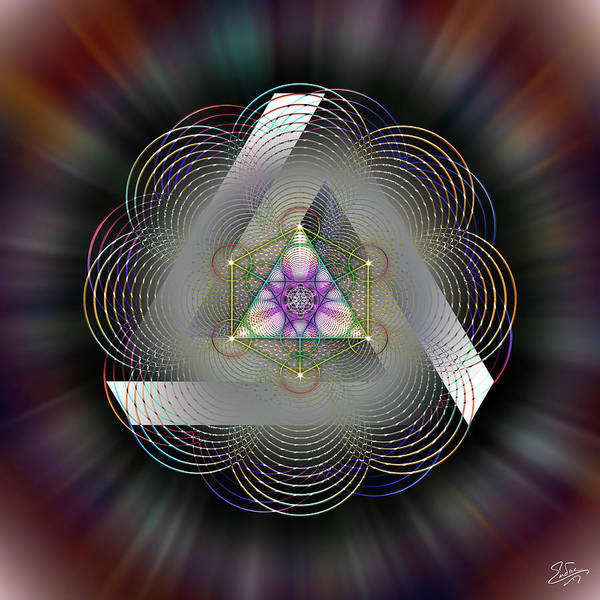 Digital Art - Sacred Geometry 696 by Endre Balogh