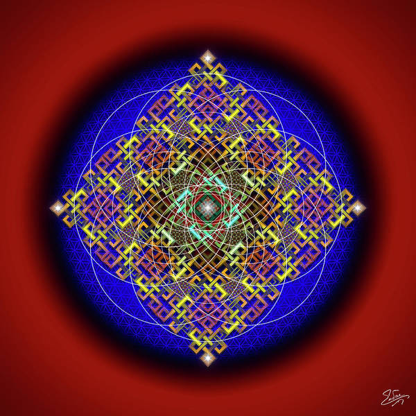 Digital Art - Sacred Geometry 698 by Endre Balogh