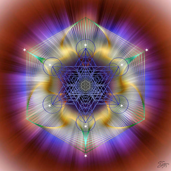Digital Art - Sacred Geometry 699 by Endre Balogh