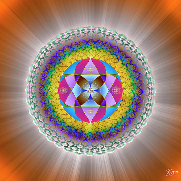 Digital Art - Sacred Geometry 706 by Endre Balogh