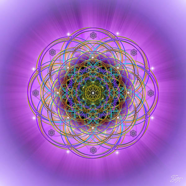 Digital Art - Sacred Geometry 715 by Endre Balogh