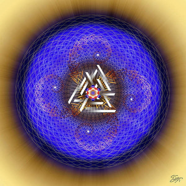 Digital Art - Sacred Geometry 719 by Endre Balogh