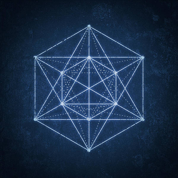 Illusion Digital Art - Sacred Geometry  Minimal Hipster Symbol Art by Philipp Rietz