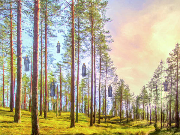 Wall Art - Painting - Sacred Grove by Dominic Piperata
