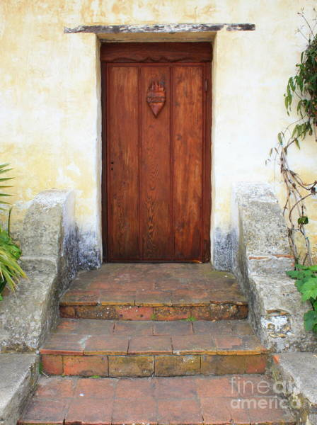 Carmel Mission Photograph - Sacred Heart Door by Carol Groenen