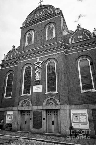 Sacred Heart Photograph - sacred heart italian church north square north end Boston USA by Joe Fox