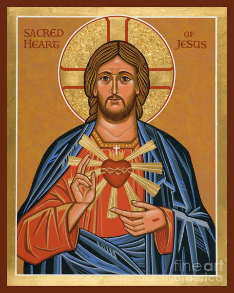Painting - Sacred Heart - Jcsae by Joan Cole