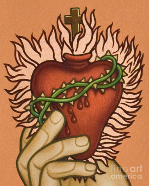 Painting - Sacred Heart - Lwsac by Lewis Williams OFS