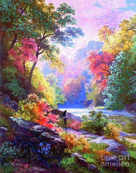 American Indians Painting - Sacred Landscape Meditation by Jane Small