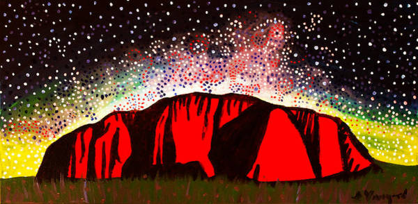 Aborigine Painting - Sacred Place by Susan Vineyard