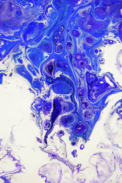 Photograph - Sacred Purple Flows 2. Abstract Fluid Acrylic Pour by Jenny Rainbow