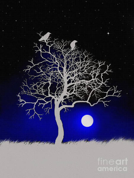 Wall Art - Painting - Sacred Raven Tree by Robert Foster