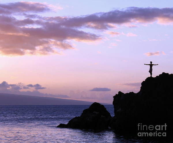 Maui Sunset Photograph - Sacred Tribute by Krissy Katsimbras