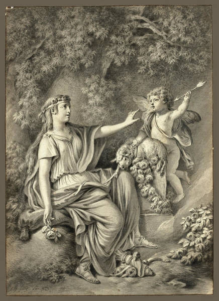 Drawing - Sacrifice To Love by Jean-Baptiste Huet
