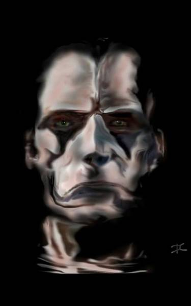 Digital Art - Sad And Serious by Darren Cannell