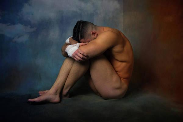 Male Nude Digital Art - Sad Look  by Mark Ashkenazi