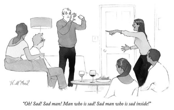 Oh Drawing - Sad Man by Will McPhail