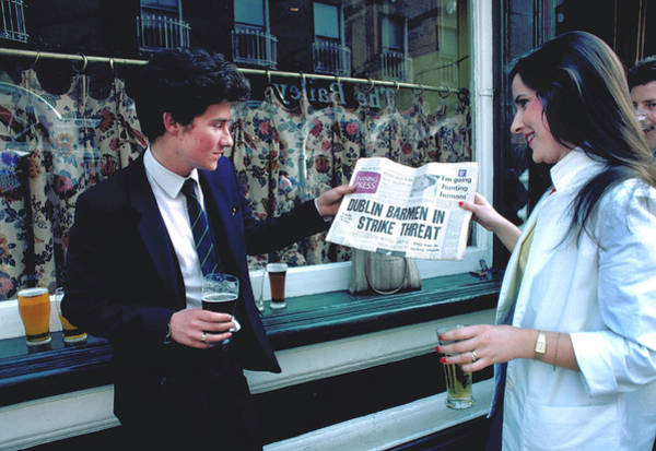 Bar Tender Photograph - Sad News In Dublin by Carl Purcell