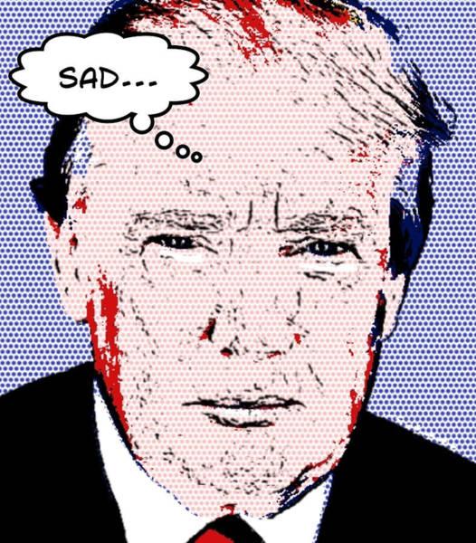 Presidency Digital Art - Sad Trump by Donald Stevenson