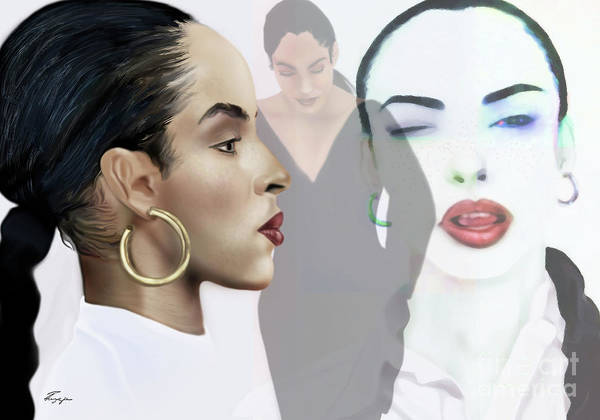 Painting - Sade In Layers  by Reggie Duffie