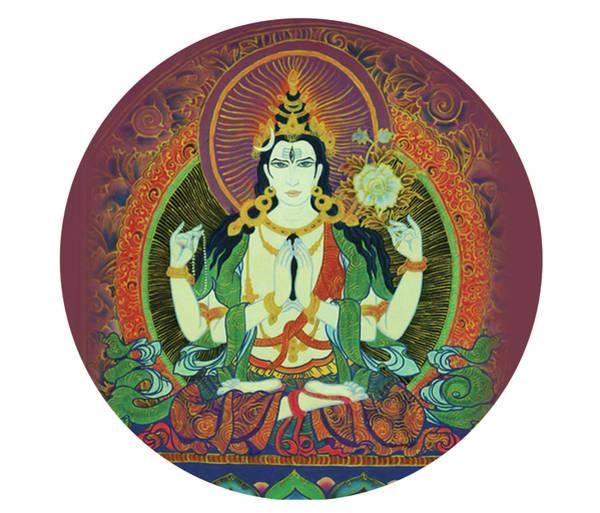 Painting - Sada Shiva  by Guruji Aruneshvar Paris Art Curator Katrin Suter