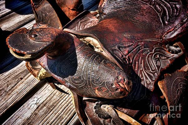 Saddle Photograph - Saddle Of Broken Dreams  by Olivier Le Queinec