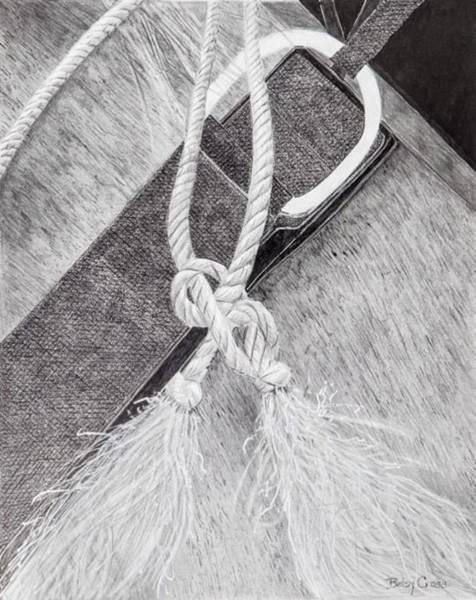Drawing - Saddle Strap by Betsy Carlson Cross