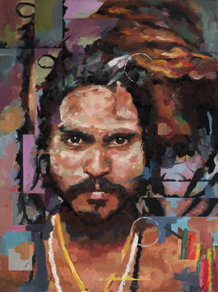 Guru Painting - Sadhu II by Richard Day