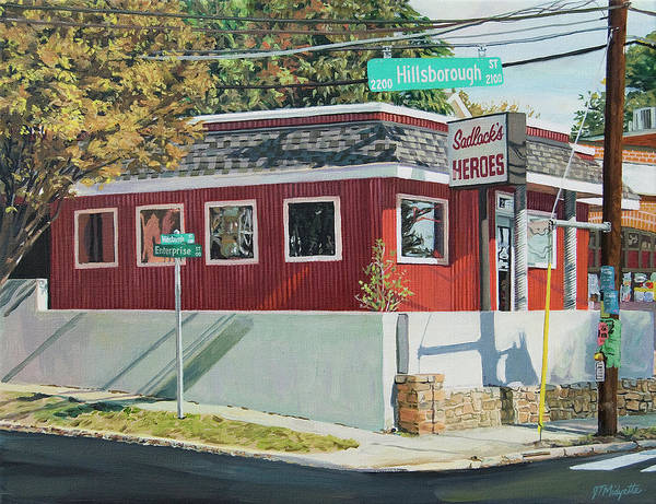 Nc State Wall Art - Painting - Sadlacks Restaurant by Tommy Midyette