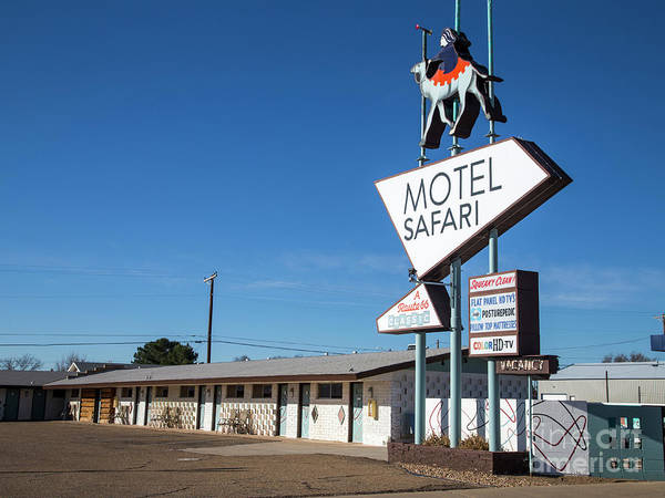 Wall Art - Photograph - Safari Motel On Route 66 by Twenty Two North Photography