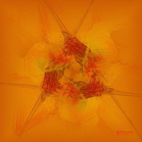 Saffron Digital Art - Saffron Triquetra by Diane Parnell