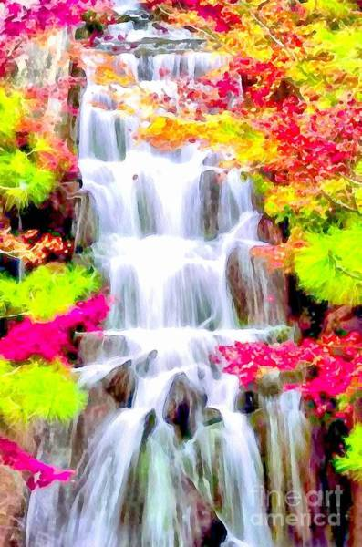 Painting - Soft And Wet Waterfall by Catherine Lott