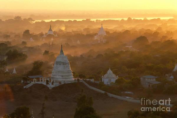Wall Art - Photograph - Sagaing Hills Pagodas by William Waterfall - Printscapes