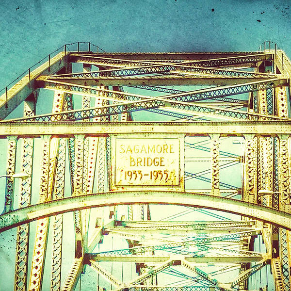 Sagamore Wall Art - Digital Art - Sagamore Bridge Cape Cod Vintage by Brandi Fitzgerald
