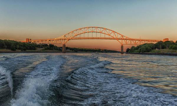 Photograph - Sagamore Bridge Sunset by Brian MacLean