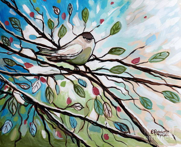 Painting - Sage Glimmering Songbird  by Elizabeth Robinette Tyndall