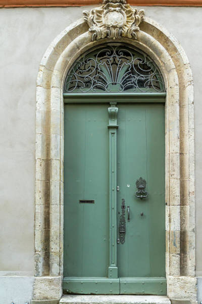 Photograph - Sage Green French Door by Georgia Fowler
