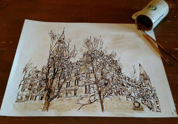 Wall Art - Painting - Sage Hall  by Nathanael Manzer