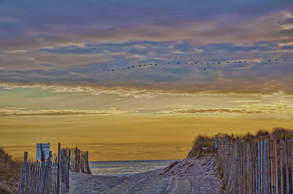 Sagg Main Beach In Winter Art Print