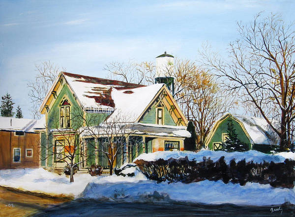 Wall Art - Painting - Saginaw And Sherman by William Brody