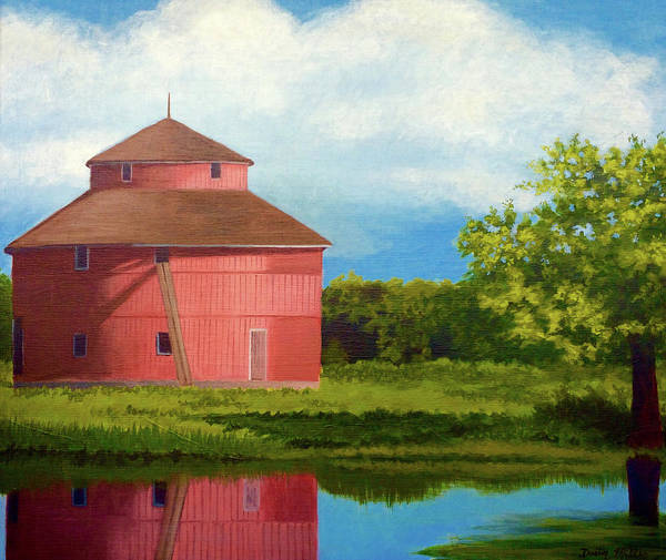 Painting - Saginaw Round Barn by Dustin Miller