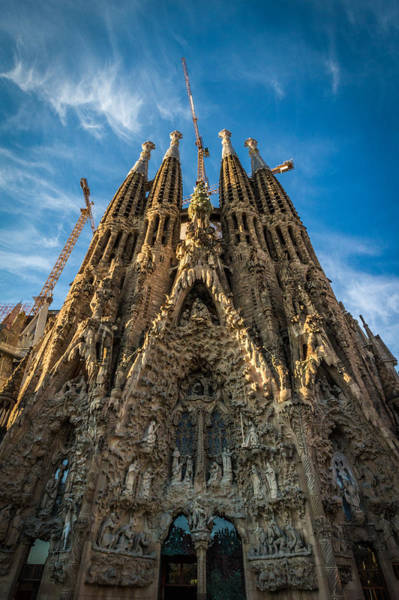 Photograph - Sagrada Familia Facade Barcelona by Adam Rainoff