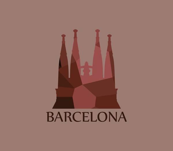 Illustration Digital Art - Sagrada Familia by Marco Livolsi