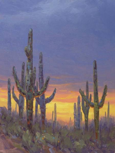 Wall Art - Painting - Saguaro Mosaic by Cody DeLong