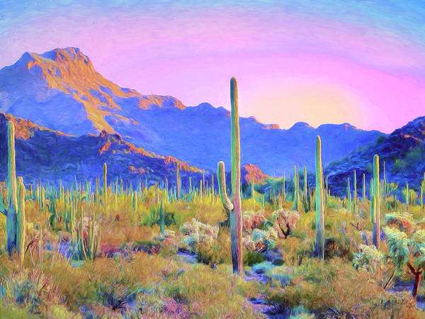 Painting - Saguaro Sunrise by Dominic Piperata