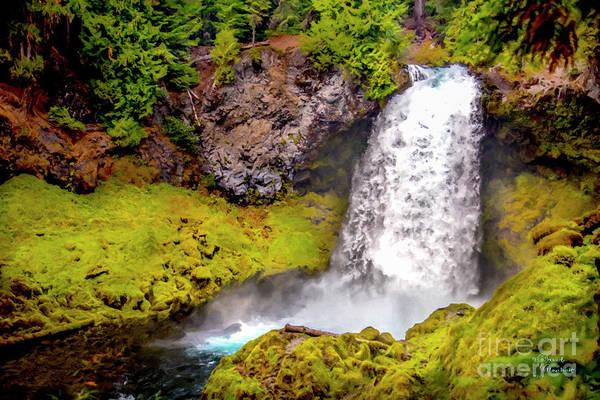Mixed Media - Sahalie Falls by David Millenheft