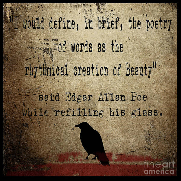 Raven Digital Art - Said Edgar Allan Poe by Cinema Photography