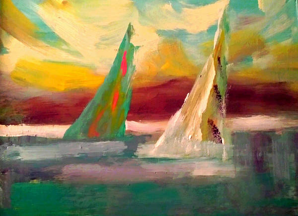 Painting - Sail Away 1 by Nikki Dalton